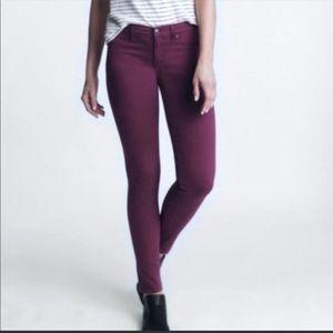 Lila Ryan Port Burgundy skinny jean size 27